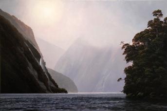"""Midnight Marauders"" - Doubtful Sound, oil on canvas, 600x900mm, US$4,285"