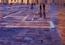 """Piazza San Marco"" - Venice, oil on board, 600x900mm, SOLD"
