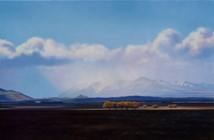 """The Big Blue"" - McKenzie Basin. oil on canvas, 60x90cm, $5,750"