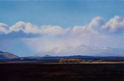 """The Big Blue"" - McKenzie Basin. oil on canvas, 60x90cm, $5,750"
