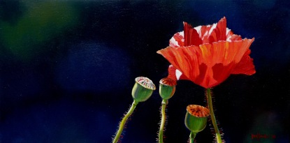 """""""Gone Tomorrow"""" - oil on canvas, 200x400mm, US$650"""