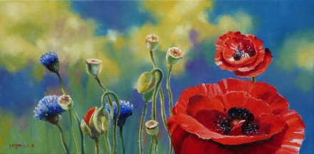 """""""Here Today..."""" - oil on canvas, 200x400mm, US$650"""