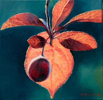 """Summer Light"" - oil on canvas 150x150mm US$295"