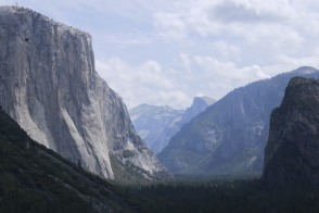 Half Dome and El Capitan from Tunnel View