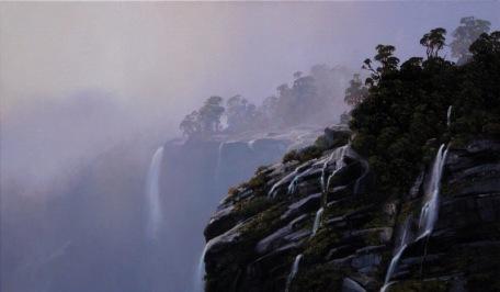 """Midnight Marauders V"" - First Arm Doubtful Sound, oil on canvas, 35 x 60cm, SOLD"
