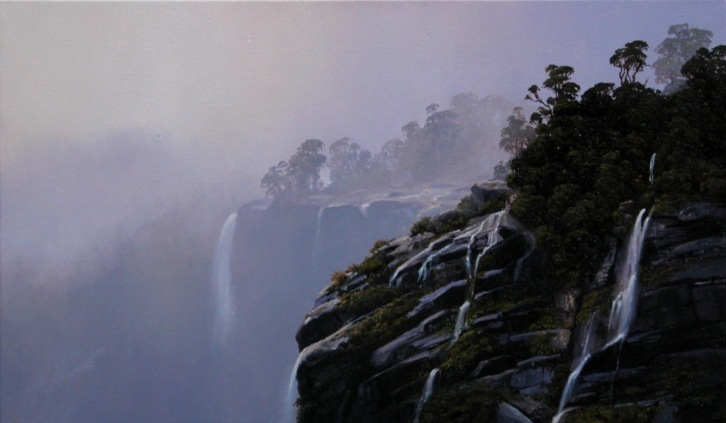 'Midnight Marauders VI' First Arm Doubtful Sound, oil on canvas, 300 x 500mm
